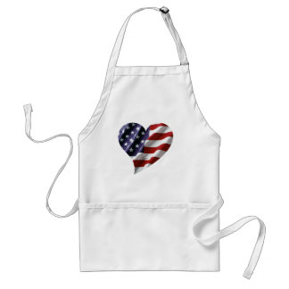 American Heart Adult Apron