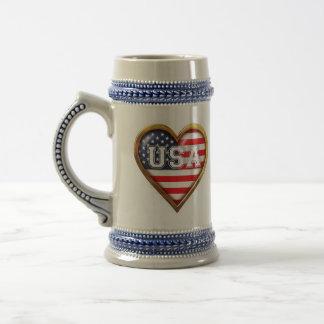 American Heart Beer Stein