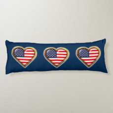 American Heart Body Pillow
