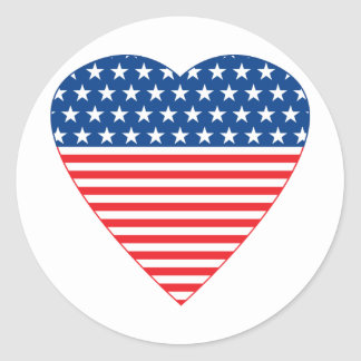 American Heart Classic Round Sticker