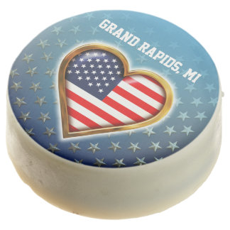 American Heart Customized With Your City And State Chocolate Covered Oreo