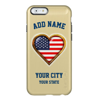 American Heart Customized With Your City And State Incipio Feather Shine iPhone 6 Case