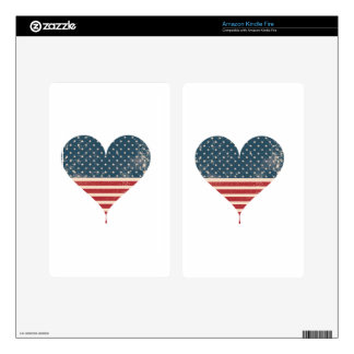 AMERICAN-HEART DECALS FOR KINDLE FIRE