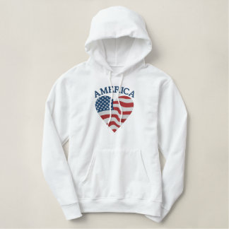 American Heart Embroidered Hoodie