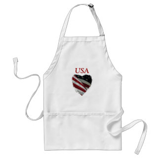 American Heart Flag Adult Apron