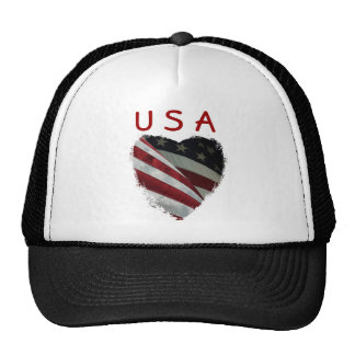 American Heart Flag Trucker Hat