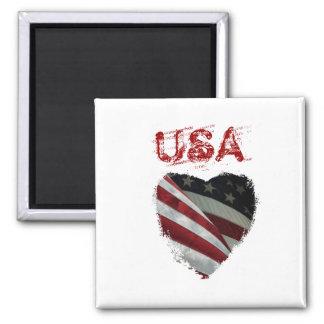 American Heart Flag Magnet