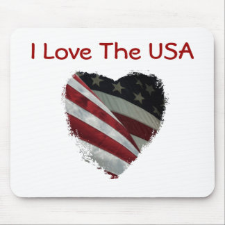 American Heart Flag Mouse Pad