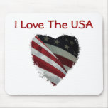 American Heart Flag Mouse Pads