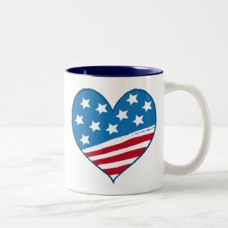 American Heart Flag mug
