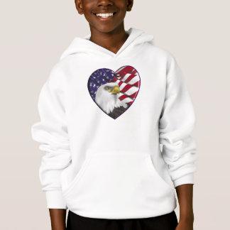 American Heart Flag n Eagle Hoodie