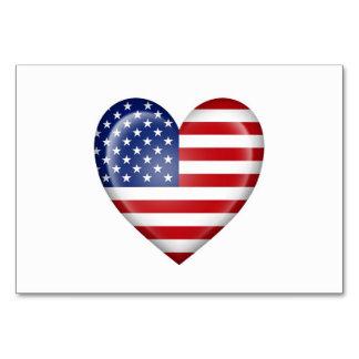 American Heart Flag on White Card