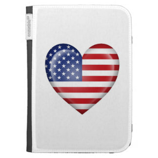 American Heart Flag on White Case For Kindle
