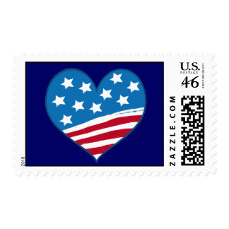 American Heart Flag postage
