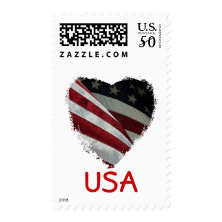 American Heart Flag postage stamps