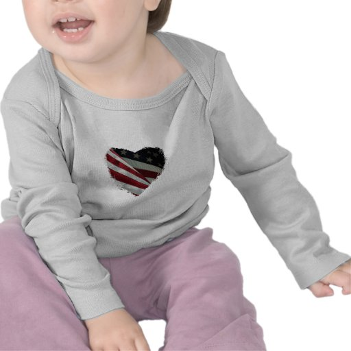 American Heart Flag Tee Shirts