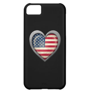 American Heart Flag with Metal Effect iPhone 5C Covers