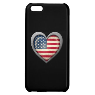 American Heart Flag with Metal Effect iPhone 5C Cover