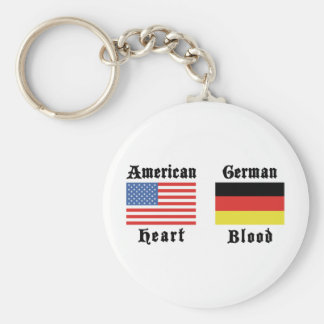 American Heart German Blood Keychains