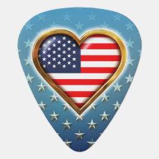 American Heart Guitar Pick