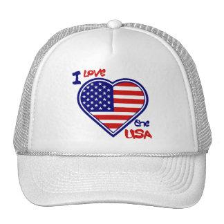 "American Heart Hat "" I Love the USA"""