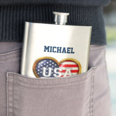 American Heart Hip Flask