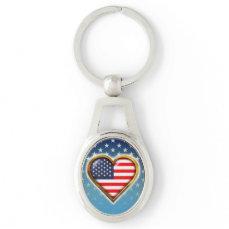 American Heart Keychain