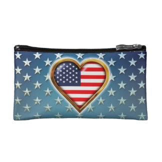 American Heart Makeup Bag