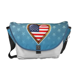 American Heart Messenger Bag