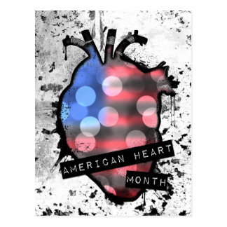 american heart month postcard