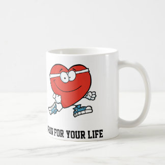 American Heart Month Run for your Life Classic White Coffee Mug
