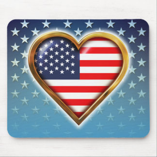 American Heart Mouse Pad