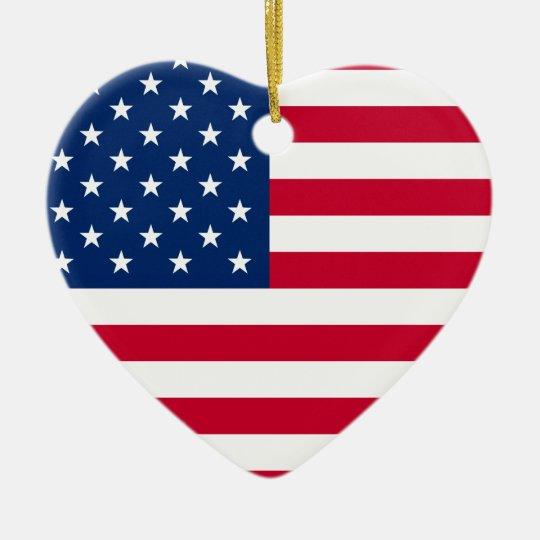 American Heart ornament