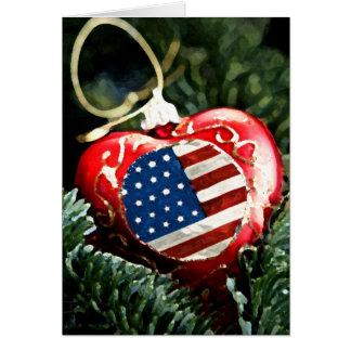 American Heart Ornament Card