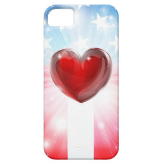 American Heart Patriotic Background iPhone 5 Cases