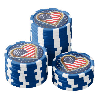 American Heart Poker Chips