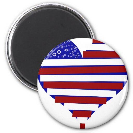 American Heart Refrigerator Magnet