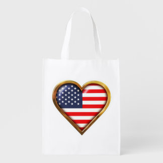 American Heart Reusable Grocery Bag
