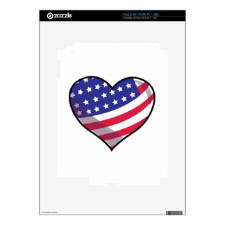 American Heart Decals For The iPad 2