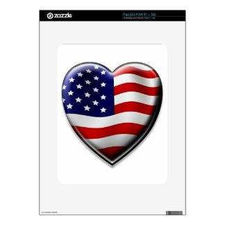American Heart Decals For The iPad