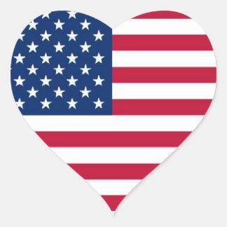 American Heart Sticker Heart Sticker
