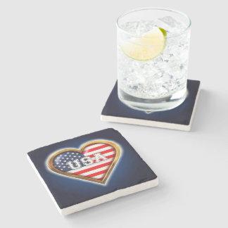 American Heart Stone Coaster