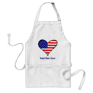 American heart USA Soccer lover US soccer gifts Adult Apron