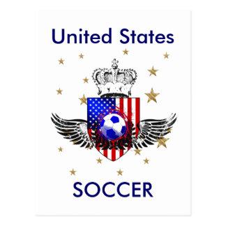 American heart USA Soccer lover US soccer gifts Postcard