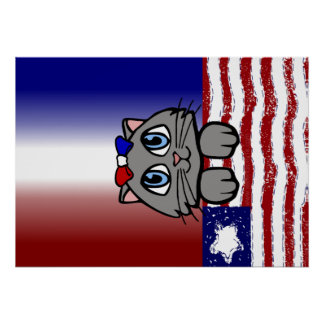 American Heartland Kitty Poster