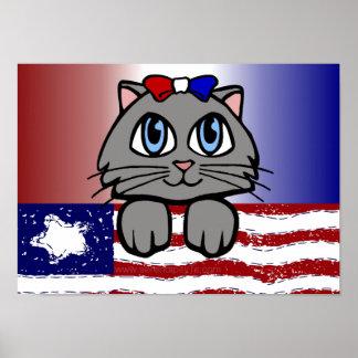 American Heartland Kitty Posters