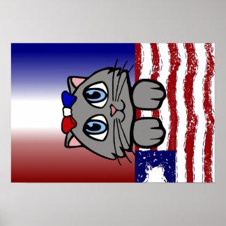 American Heartland Kitty Print