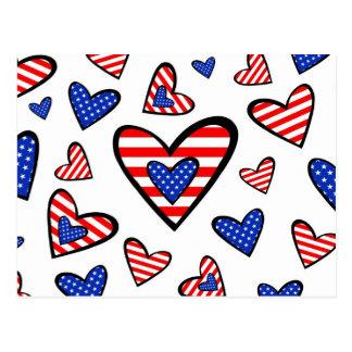 American Hearts Postcard