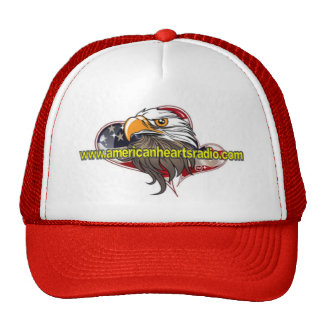 American Hearts Radio Red/White Hat