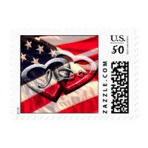 American Hearts Wedding Postage I Do Military